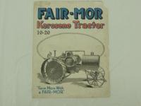 Fair-Mor 10-20 Kerosene Tractor Foldout Brochure