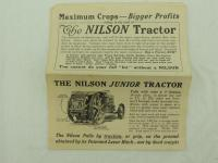The Nilson Tractor foldout Brochure