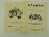 Liberty Tractor Co. Foldout Brochure