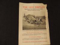 The 1916 Simplex Brochure