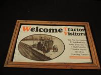 Early Case Tractor Visitors Cardboard Sign