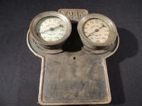 York MFG. Co. Pressure Gauges On Original Mounting Plate