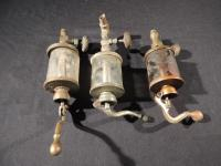 Lot of 3 Steam Engine Oilers