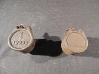 Lot of 2 Case Steam Engine Oil Cups