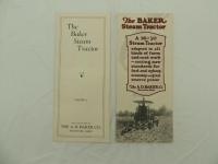 Lot of 2 - The Baker Steam Tractor Brochures