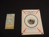 Lot of 2 - International Power Lift Tractor Plow Brochure, IHC Glimpses of Thrift-Sand Pocket Book