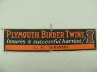 Plymouth Binder Twine Canvas Banner