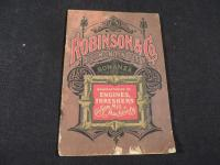 Robinson & Co. Manufacturers of Engines, Threshers, & Saw Mill Machinery