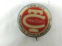 Twin City Tractors Celluloid Pinback