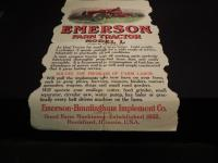 Emerson Farm Tractor Fold Out Mailer