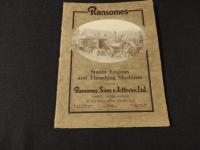 Ransomes, Sims & Jefferies, Ltd. Catalog