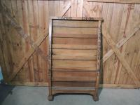 Early John Deere Oak Literature Rack