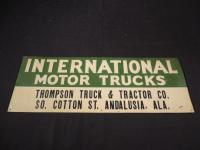 International Motor Trucks Tin Embossed Sign