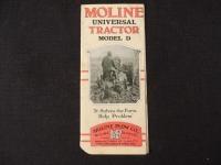 Moline Universal tractor model D tri-fold