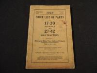 1929 M-M Co. Price List of Parts