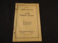 OilPull 16-30 Tractor Repair Parts List