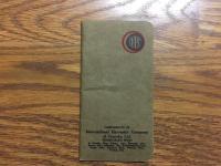 1913 International Harvester Pocketbook
