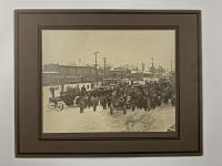FACTORY J.I. CASE STEAM ENGINES, TRACTORS, EQUIPMENT CABINET PHOTO