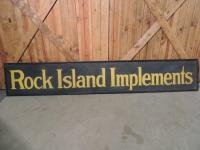 Rock Island Implements Tin Smaltz Sign