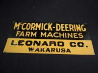 McCormick-Deering Farm Machines Tin Embossed Sign