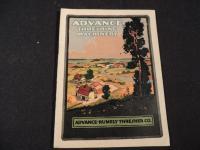 Advance Threshing Machinery Catalog