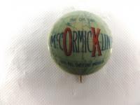 McCormick Line Celluloid Pinback