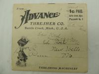 Advance Thresher Co. Mailer/Catalog