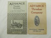 Lot of 2 Pocket Size Advance Thresher Co. Booklets