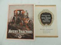 Lot of 2 Avery Tractors Foldout Brochres