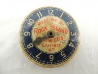 Rock Island Plow Co. Celluloid Pocket Mirror