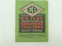 E-B 12-20 Model A A - S.A.E. Rating Kerosene Tractors Catalog