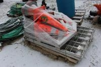 (2) Skids of Safety Cones and Fencing, (2) 2,500# Capacity Aluminum Folding Equipment Ramps
