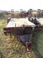 2006 Frieson 20' Tandem Axle Equipment Trailer, VIN: 4WFCF202361009043, Fold-Down Ramps,
