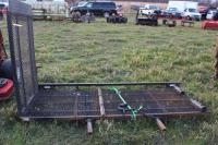 Dual Receiver Mount Mower Carrier with Ramp