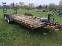 18' Tandem Axle Trailer with ramps