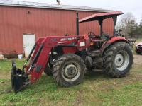 Case IH JX80 4X4 Tractor with L730 Loader, ROPS, Dual Outlets, 419 hours, S/N - HFJ053367