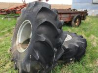 Pair of 23.1-26 Mounted Tires