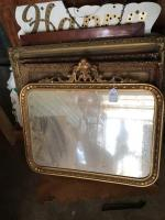 Mirror, and pictures with ornate frames