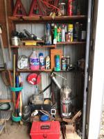 Jacks, extension cords, chemicals, fire extinguisher