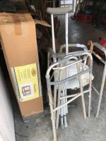 Used gazebo, crutches, cane and walkers