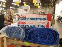 (2) Everbuilt 40' x 60' Tarp Cover (2400 sq feet!!) (2) Boxes Plastic Sheeting