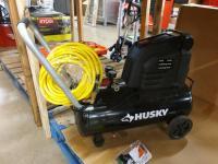 Husky 8 gal 150psi Compressor with hose; (1) Standard Poly Bowl Filter