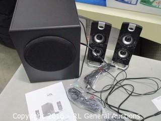 Powered Speaker system with control pod