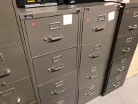 4 metal file cabinets/Four drawer, five drawer