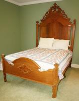 ANTIQUE SOLID CHERRY BED - USBR4