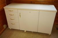 MODERN EXPANDING SEWING CABINET ON CASTERS - UTIL