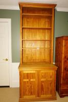 MODERN SINGLE PIECE SOLID WOOD CABINET AND HUTCH - BASE2