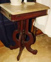 ANTIQUE MARBLE TOP SIDE / OCCASIONAL TABLE - USBR1