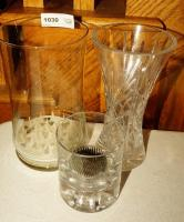 CRYSTAL AND GLASS VASES - GRT