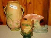 POTTERY INCLUDING ROSEVILLE, WELLER, AND HULL - GRT